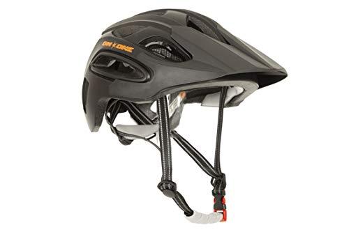 On-One Unisex Bike Helmet Enduro LED MTB Helmet (Small/Medium(55cm - 59cm) Matt Black)