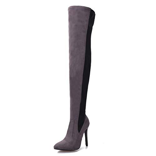 LHZHH Super-High-Heel-Oberschenkelstiefel, Sexy, Stiletto Overknee-for Stiefel, 11CM Hohe for Stiefel Mit Hohen Absätzen Und Spitz Zulaufende Stretchstiefel Aus Wildleder
