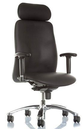NOWY STYL Chefsessel Indiana XXL bis 150 kg mit Armlehnen Schwerlaststuhl Bürostuhl Echtleder Stuhl