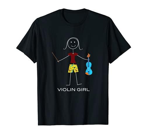 Violino divertente delle donne, regali del musicista della Maglietta