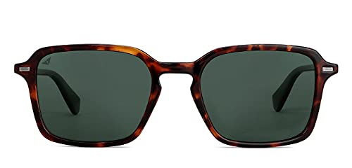 Vincent Chase by Lenskart   Green Wayfarer Stylish Sunglasses   Polarized & UV Protected   For Men & Women   Large   VC S13809