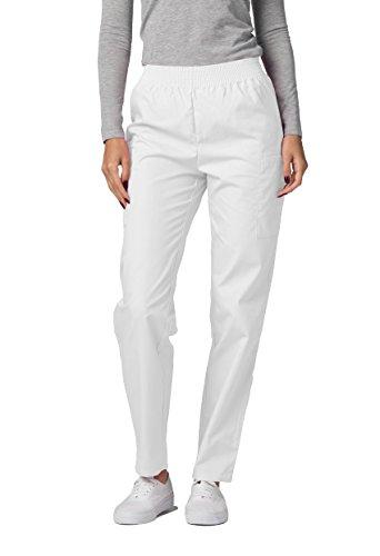 Adar Universal Damen Pflegebekleidung - Konische Cargo Hose - 503 - White - M