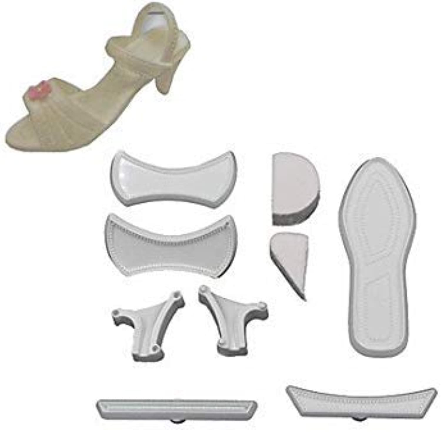 New Arrival Fondant Wedding Cake Decorating Ladies High Heel shoes Cutters & Mold  03102316