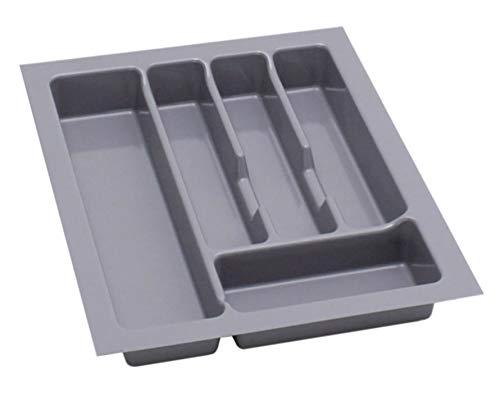 Alusfera Besteckkasten fur Schubladen 40 Besteckeinsatz für Schubladen 330 x 430 mm Besteck Schubladeneinsatz Schubladen Organizer Küche Silbergrau