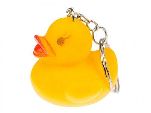 Miniblings Quietschente Schlüsselanhänger Anhänger Schlüsselring Ente quietscht