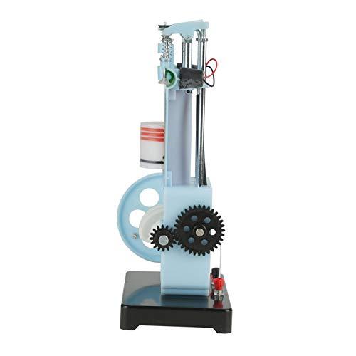 Modelo de manivela manual diesel de 4 tiempos, modelo de motor diesel Principio de funcionamiento del motor de combustión interna Juguetes educativos Mini modelo de motor de bricolaje