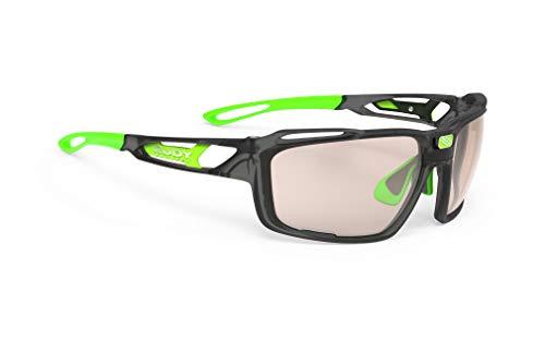ルディプロジェクト(RUDYPROJECT) スポーツ サングラス ロード バイク 自転車 マラソン ジョギング 運動 トライアスロン テニス 野球 SINTRYX シントリクス アイス グラファイト フレーム/インパクト X2 調光 レーザー ブラウン