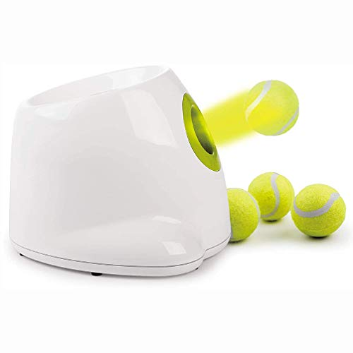 LHSG Automatic Pet Ball Launcher, Tennis Ball Launcher Throwing Machine for Puppy, Pet IQ Training, for Interactives Hyper Mini Throwing Dog Toy