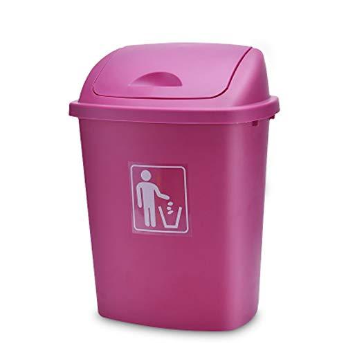 AINIYF Poubelle de cuisine à dessus pivotant - Grande poubelle pour usage intérieur, extérieur ou commercial/industriel / 30L / 40L / 65L (Couleur : Rose, taille : 30L)