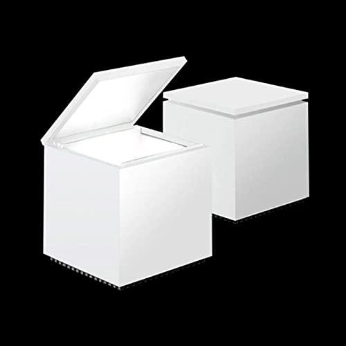 Cini & Nils - Cini & nils cuboled cuboluce led deko mesa lámpara blanca cubo # 136 l diseño franco bettoncia & mario melocchi 1972