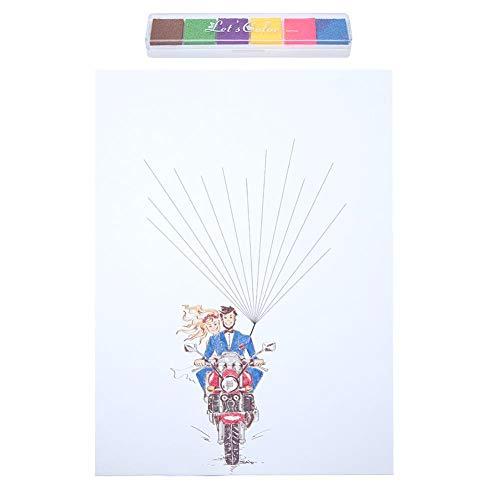 Árbol de huellas dactilares, cartel de libro de visitas de boda DIY Firma de...