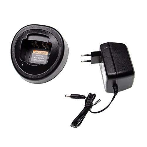 vhbw Cargador Compatible con Motorola HT1550.XLS baterías de Radio Walkie Talkie (Soporte...