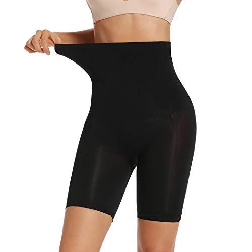 Joyshaper Damen Miederhose Bauch Weg Stark Formend Nahtlose Miederpants Body Shaper mit Bein Hohe Taille Shaping Unterwäsche (Schwarz-1, X-Large)