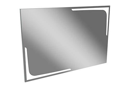 Lanzet LED Spiegel K1 / Wandspiegel mit indirekter LED-Beleuchtung/Maße (B x H x T): ca. 120 x 80 x 3 cm/LED Badspiegel/berührungslose Bedienung durch Sensor/großer Spiegel mit Beleuchtung