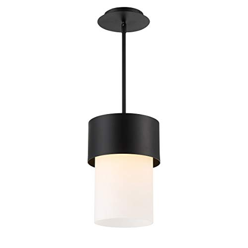 WAC Lighting PD-42912-BK DweLED Napa 12in LED Pendant 3000K in Black Light Fixture, 12 Inches
