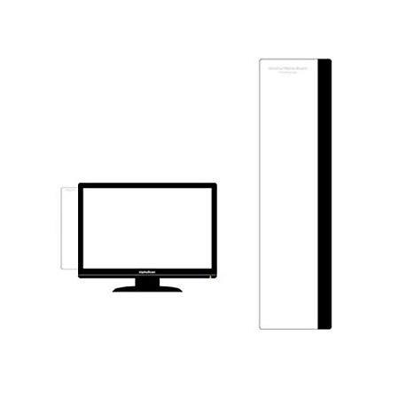 モニターメモボード ≪30cm≫ (左側用, BLACK) パソコンメモボード 付箋 貼り付けボード オフィス用品 メモボード メモシール 貼り付けメモ