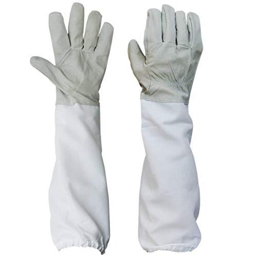 Hemore Imkerhandschuhe Bienenzucht Anti-Bissschutz Handschuhe mit belüfteten Langen Ärmeln für Imker