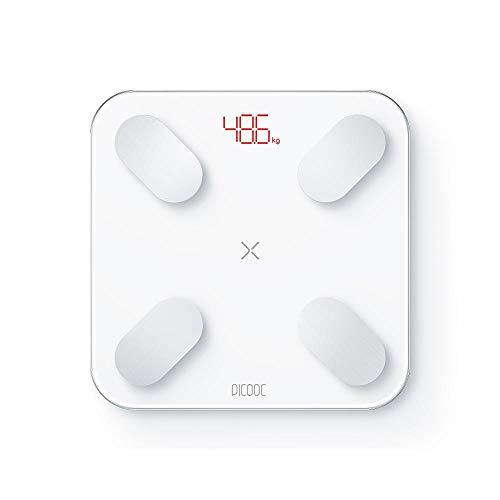 PICOOC Mini-weegschaal voor lichaamsvet, bluetooth, app, kunstmatige intelligentie, lichaamsanalyseweegschaal voor lichaamsvet, waterspieren, Apple Android, wit