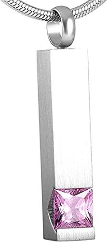 YXYSHX Cadena de Cenizas Urnas para PerrosCollar de Ceniza Botella de Perfume de Acero Inoxidable Cremación Collar conmemorativo Collar de Recuerdo Colgante-Oro Rosa-Plata C-Plata_C-Plata_C