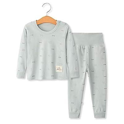 YANWANG 100% Organic Cotton Baby Boys Girls Pajamas Set Long Sleeve Sleepwear(3M-5T)(Tag55/12-24M,Pattern 9)