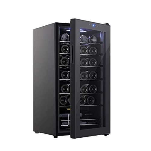 Equipo para el hogar Refrigerador para vinos Refrigerador - Refrigeradores para vino sin escarcha para botellas - 8 18 deg;℃Enfriador de vino portátil con control de temperatura preciso: 17W vece