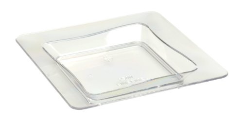 Fineline Settings Square 3' x 3' | White Temptations | Pack of 10 Plastic Tiny Trays, 3 inches