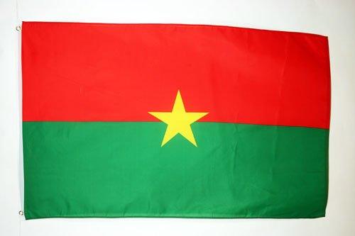 AZ FLAG Flagge Burkina FASO 150x90cm - Burkina FASO Fahne 90 x 150 cm - flaggen Top Qualität