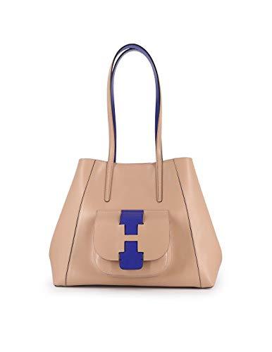 Hogan Moda De Lujo Mujer KBW01BA0400J607A36 Beige Cuero Bolso Tipo Shopper   Primavera-verano 20