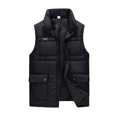 XFX1990 Winterjas, zwart katoen, dik, heren, dik, herfst, warm, casual, multi-pocket, grote mouwloos, trenchcoat