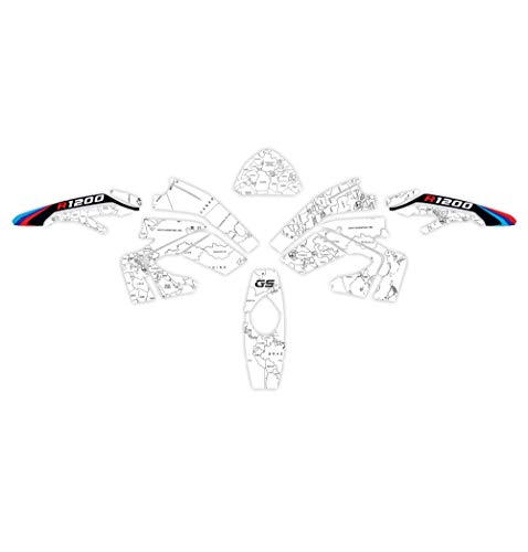 Etiqueta engomada de Cuerpo Completo de la Motocicleta Protección Resistente a los arañazos Reflectiver Film para BMW R1200GS 2008-2012 R1200 GS R 1200 GS Etiqueta Decorativa (Color : 2)