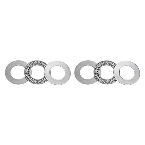 uxcell AXK2035 Thrust Needle Roller Bearings with Washers 20mm Bore 35mm OD 2mm Width 2pcs