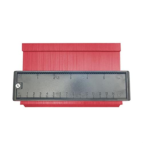 E E-NICES herramientas Perfil Calibrador de copia Contorno Duplicador Duplicador Marcador de madera estándar Herramientas laminar baldosas Borde Formando la medida de madera Regla (Color : Red)