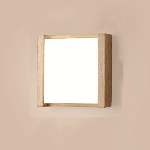 Applique Murale Murale Murale en Bois Solide Lumières Créatives Chaudes Lampes de Chevet Log Chambre Décoration Murale Lumière (Couleur : Lumière Blanche)
