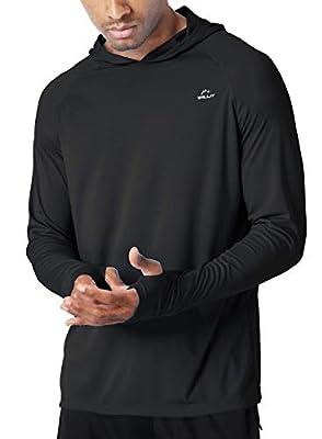 Willit Men's UPF 50+ Sun Protection Hoodie Shirt Long Sleeve SPF Fishing Outdoor UV Shirt Hiking Lightweight Black XL