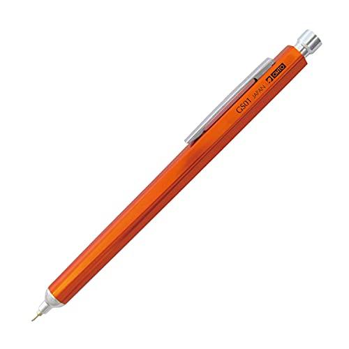 Ohto Aluminium Kugelschreiber Needle Point GS01-S7 0,7mm Soft Ink (schwarz) (Orange)