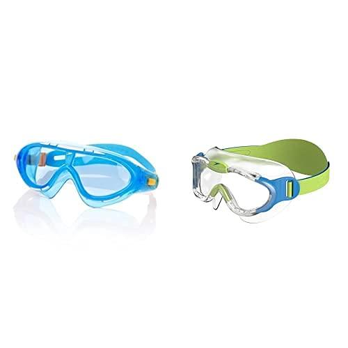 Speedo Biofuse Rift Gafas De Natación, Unisex Niños, Azul/Naranja, Talla Única + Máscara Infantil Biofuse Sea Squad