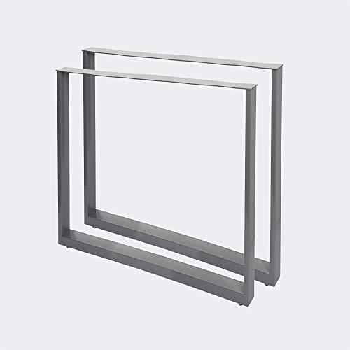 Bastidores para mesa 70x72 cm Recubrimiento polvo gris Caballetes para tablero Patas de mesa Bricola
