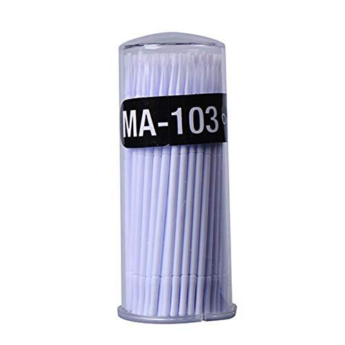 Ardorman 400pcs Micro Applicateurs Brosses Jetable, Cils Micro Brosses Swab Applicateurs Écouvillon Brosses, Cils Extensions Maquillage Outil, Blanc