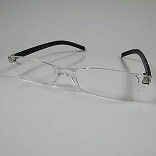 SCHILDGEN eenvoudige frameloze leesbril +1,5 zwart voor hem & haar kant-en-klare bril