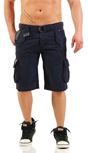 Geographical Norway Herren Cargo Shorts kurze Bermuda Hose Polish Men Navy (dunkel blau), Größe:M