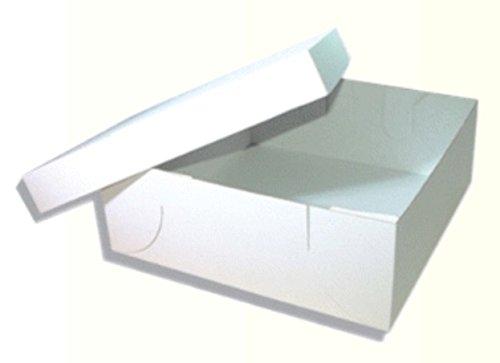 50 Tortenkartons mit Deckel 32x32x12 cm Kuchenschachtel 2teilig weiß unbedruckt * Kuchenkartons