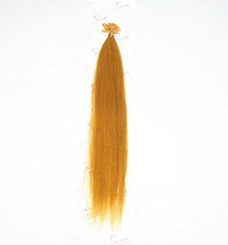 1st Lady – 45,7 cm capillaires 100% Extensions de cheveux humains soyeux droites Kératine U Pointe à ongles (20 brins) 10 g # Jaune doré