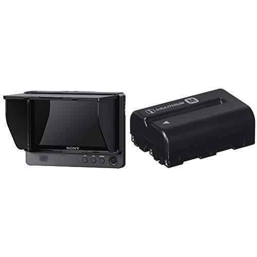 【セット買い】ソニー クリップオンLCDモニター CLM-FHD5 & リチャージャブルバッテリーパック NP-FM500H