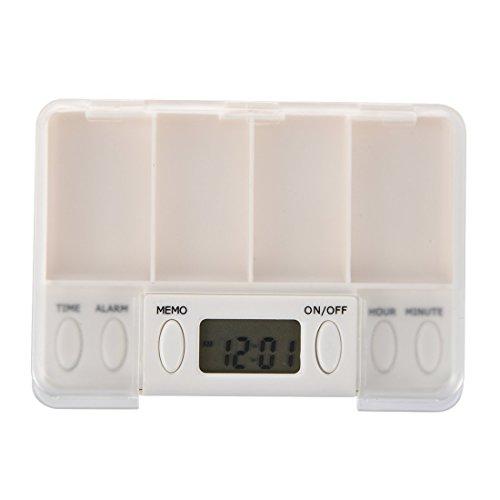 SODIAL (R)Multi-Alarm Zeit Tablette Pillen Erinnerung Medizin Box