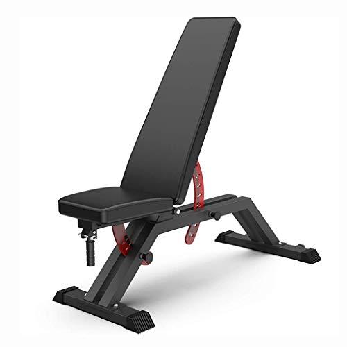 Z-LIANG Workout Bench Estándar Peso Bancos Deportes con mancuernas banco de múltiples funciones Ejercicio cama Abdominales ejercicio abdominal Inicio Multi-Función Ejercicio Dedicado (Color: Negro, ta