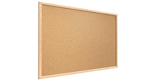 ALLboards Pinnwand mit Holz Rahmen 80x50cm Korktafel Korkwand Pinnwand Kork