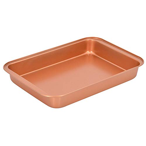 Baking Pan Nonstick Copper Ceramic Coated even cooking,Dishwasher and Oven Sfe-PTFE PFOA Free