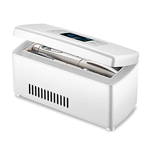 Dispositivo di Raffreddamento Dell'insulina, Mini Frigorifero per Medicinali da 2℃-18℃ per Auto,...