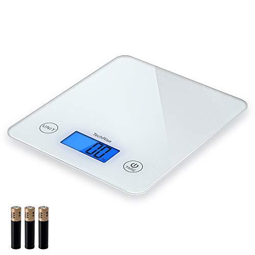 Balance Cuisine Electronique, TechRise Balance numérique de cuisine de Haute Précision, 5kg/1g,...