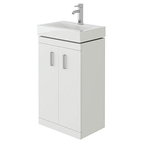 Chatham NCLW100 450mm Bathroom Floor Standing Two Soft Close Door Gloss...
